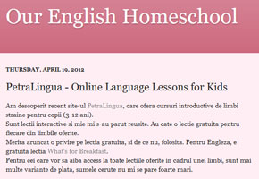 petralingua testimonials - Our English Homeschool
